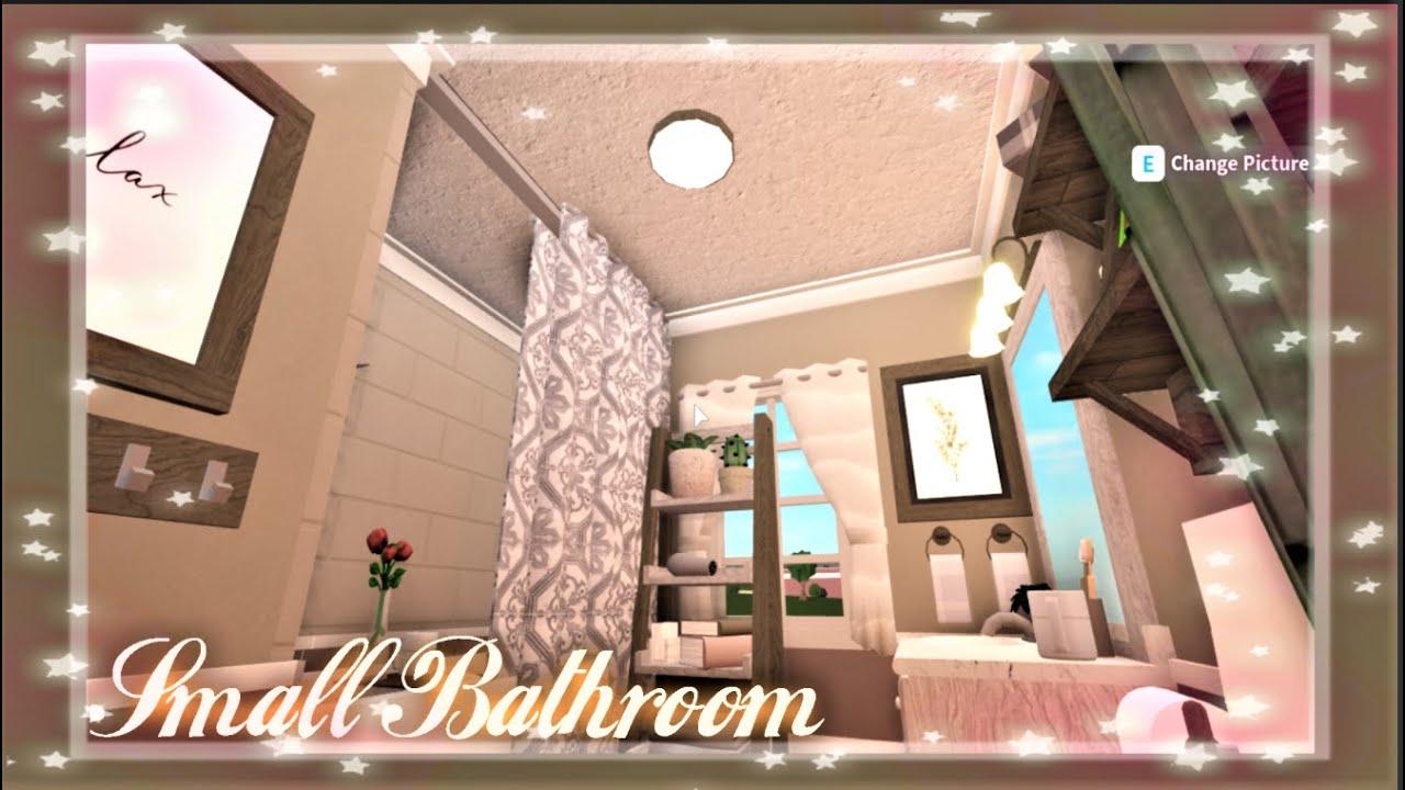 ゚ Bloxburg Speed Build Small Bathroom 10k ゚ Youtube