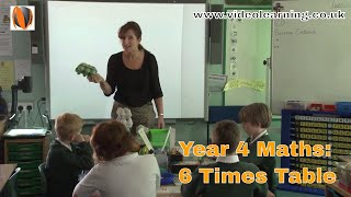 year 4 maths classroom observation 6 times table