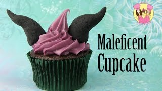 MALEFICENT Disney Halloween Cupcake Charli Is Maleficent, Ash Is Aurora (Eyedolize Makeup Collab)