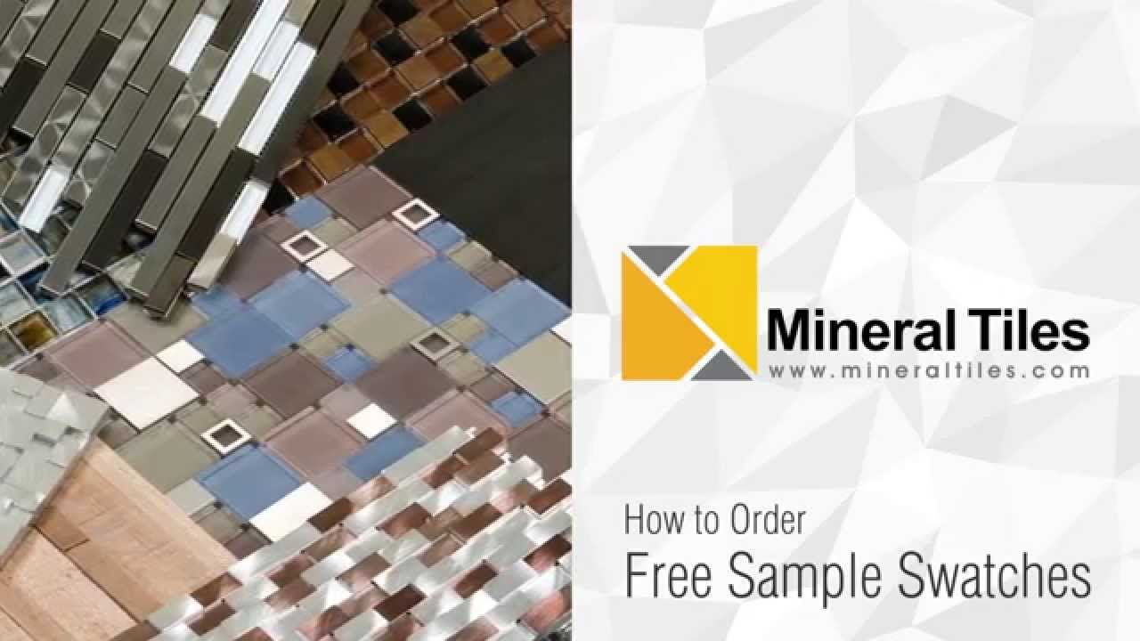How To Order Mosaic Tiles Sample Swatch Online - YouTube