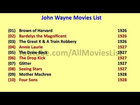 List Movies John Wayne