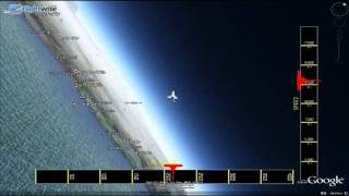 Last Space Shuttle STS135 reentry and landing flight tracking capture