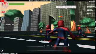 The amazing SPIDER MAN TOW ON ROBLOX!