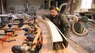 Woodworking, Diy Curved Beams For Arched Bridge