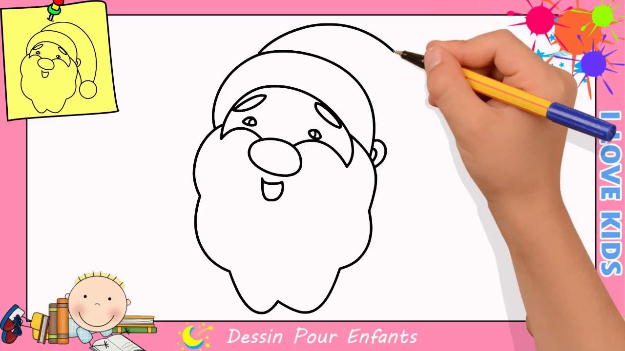Comment dessiner un pere noel facilement etape par etape - Comment dessiner pere noel ...