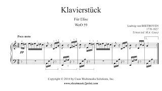 Beethoven : Für Elise, WoO 59