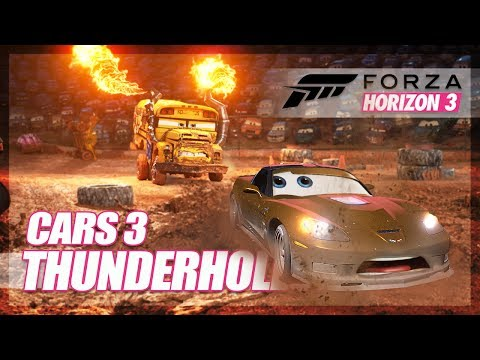 Forza Horizon 3 - Cars 3 Recreation! (Thunderhollow)