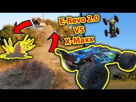 Traxxas ERevo 20 vs XMaxx RC Bash & Crashes  Which is better?
