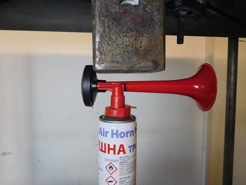 Hydraulic Press Crush Air Horn ( Oddly Satisfying )
