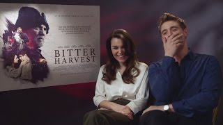 Bitter Harvest: Max Irons & Samantha Barks talk superstitions and creepy confessions