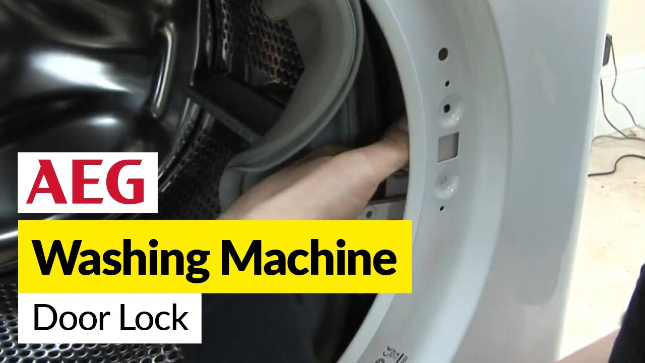 How to replace a washing machine door lock on an AEG washer dryer Aeg Washing Machine Wiring Diagram on