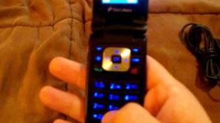 ebay auction lg ux300 blue flip cell phone mobile