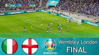 ITALY vs ENGLAND Final EURO 2020 Full Match All Goals HD Wembley London PES 2021