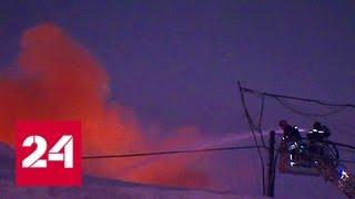 500 квадратных метров огня: на юге Москвы сгорел склад - Россия 24