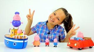 свинка пеппа игра игрушками видео