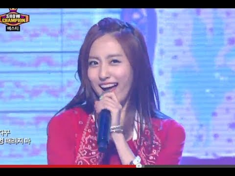 BESTie - Pit-a-pat, 베스티 - 두근두근, Show Champion 20130821
