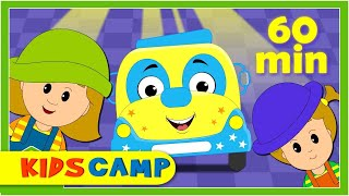 Wheels On The Bus Go Round And Round | Nursery Rhymes Collection by KidsCamp