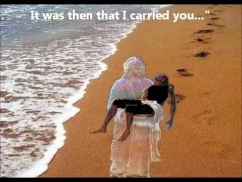 """Footprints In The Sand"" - William Blanco May - Inspirational Video [Lyrics] Mary Stevenson"