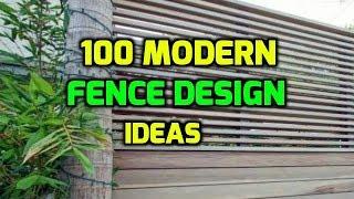 100 Modern Fence Design Ideas