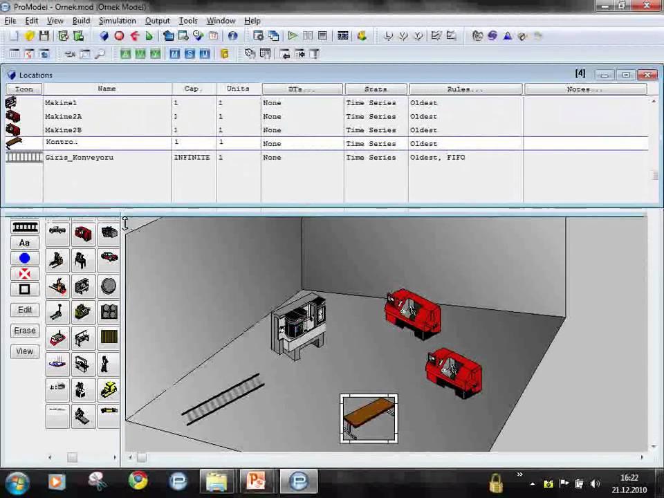 Promodel Eğitimi Ders 3 Promodel Ile Ilk Model Aşama1