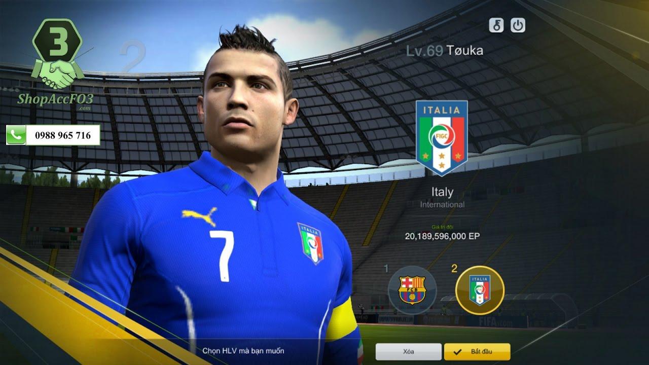 Mua Bán Acc Fifa Online 3 VIP | CR7 WB- Torres WB- Pogba WB- Rio WB GTĐH 24  Tỷ EP | Shopaccfo3.com - YouTube