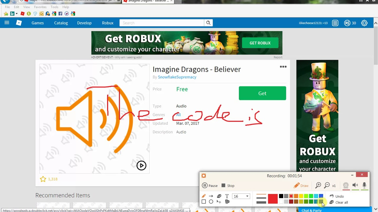How To Get Nearly Any Song On Roblox Codes Tutorial Youtube