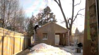 Time Lapse Of My Garage Being Built.