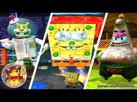 All Robot Bosses – SpongeBob Battle for Bikini Bottom [1080p]