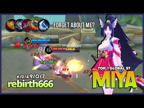 Forgotten Queen of Attack Speed Marksman?! rebirth666 Top 1 Global Miya S7 ~ Mobile Legends