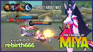 Forgotten Queen of Attack Speed Marksman?! rebirth666 Top 1 Global Miya S7 ~ Mobile Legends