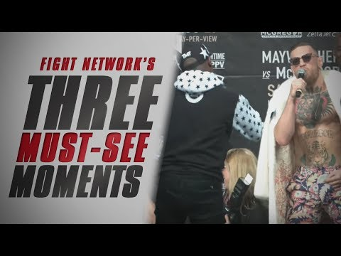 Thumbnail: Top 3 Must-See Moments from Mayweather vs. McGregor World Tour NYC Press Conference