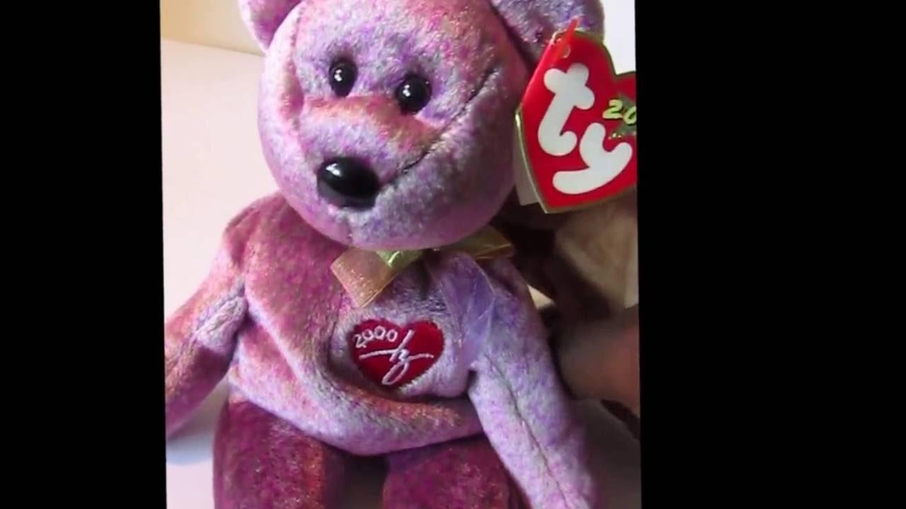 3c3e2bb1408 Ty Beanie Baby Signature 2000 bear - YouTube