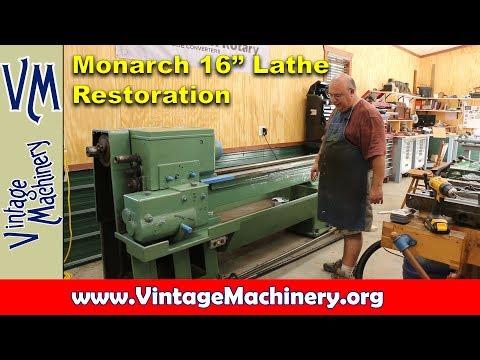 "Monarch 16"" Lathe Restoration"