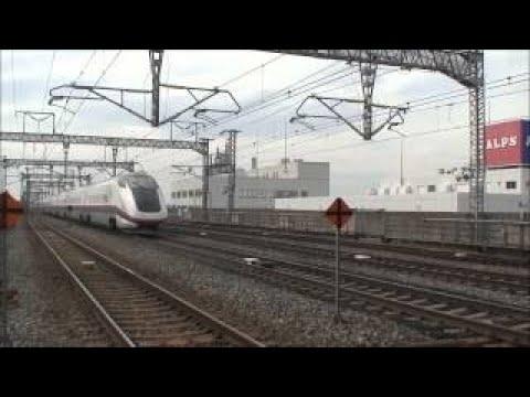 【東北新幹線】小山駅 上り線を通過するE3系つばさ(現行カラー)単独編成車両