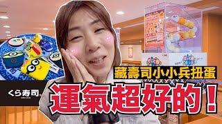 吃飽吃滿!為了小小兵來吃藏壽司居然花了1XXX元!