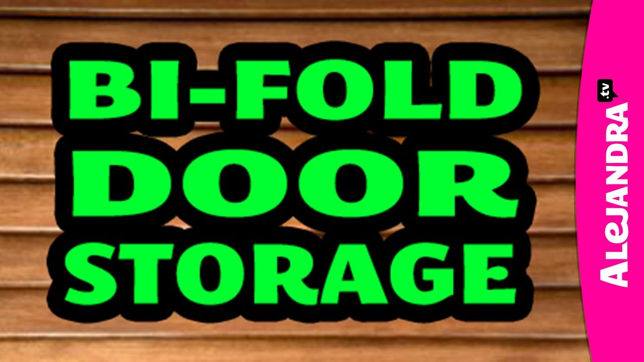 Organizing With A Bi Fold Closet Door Adding Storage Youtube