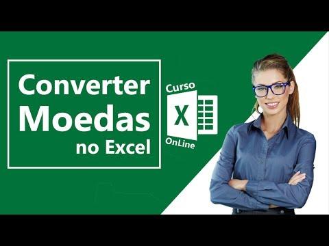 Converter Moedas no Excel 2016 - Converter Dólar, Euro, Reais