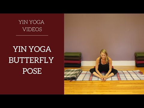 Yin Yoga Butterfly Pose with modifications