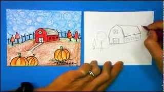 ArtSmart: Scarecrow -How to Draw a Barn-