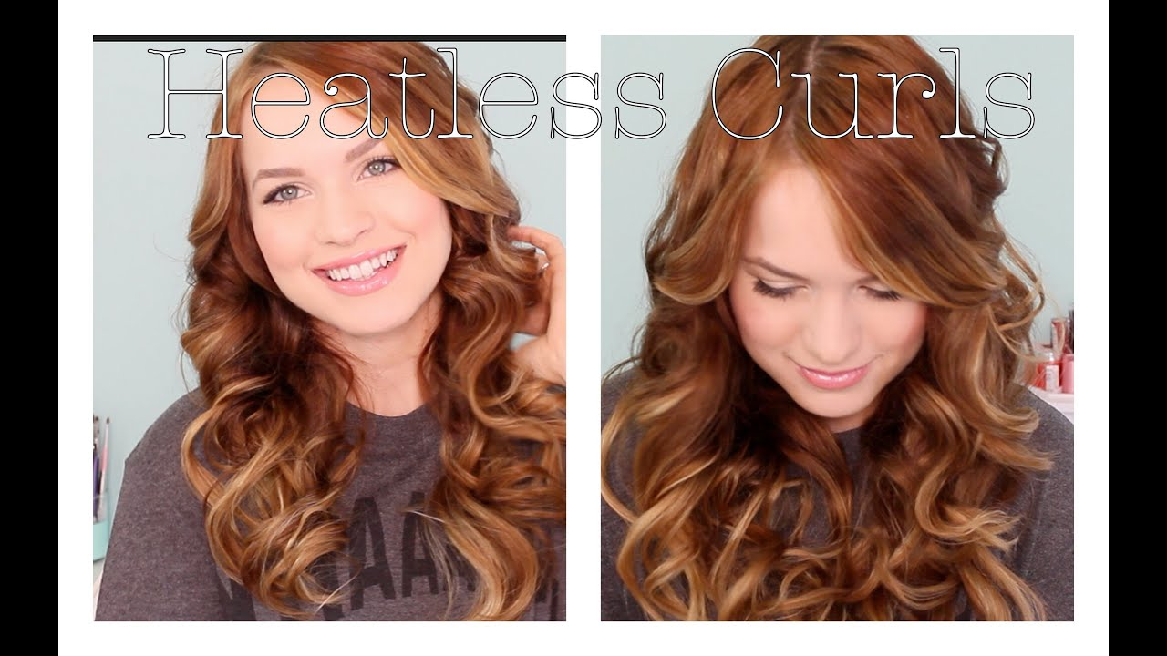 Back To School Heatless Curls Youtube