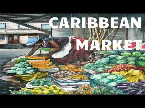 Caribbean Market Food Shopping