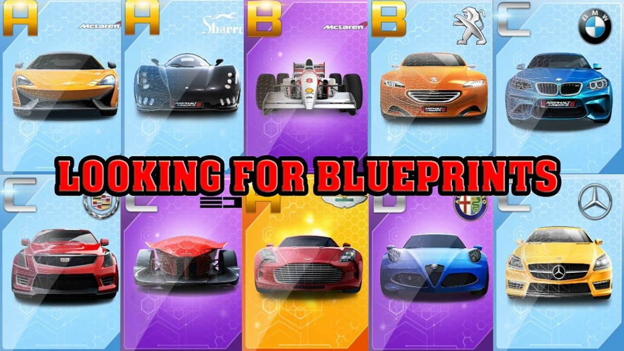 Asphalt 8 looking for blueprints new features youtube asphalt 8 looking for blueprints new features malvernweather Images