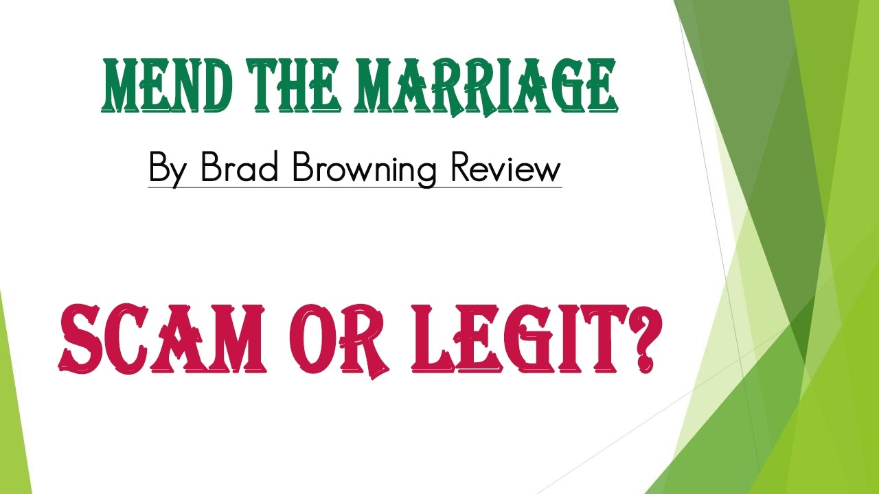 Mend the marriage by brad browning review scam or legit youtube mend the marriage by brad browning review scam or legit fandeluxe PDF