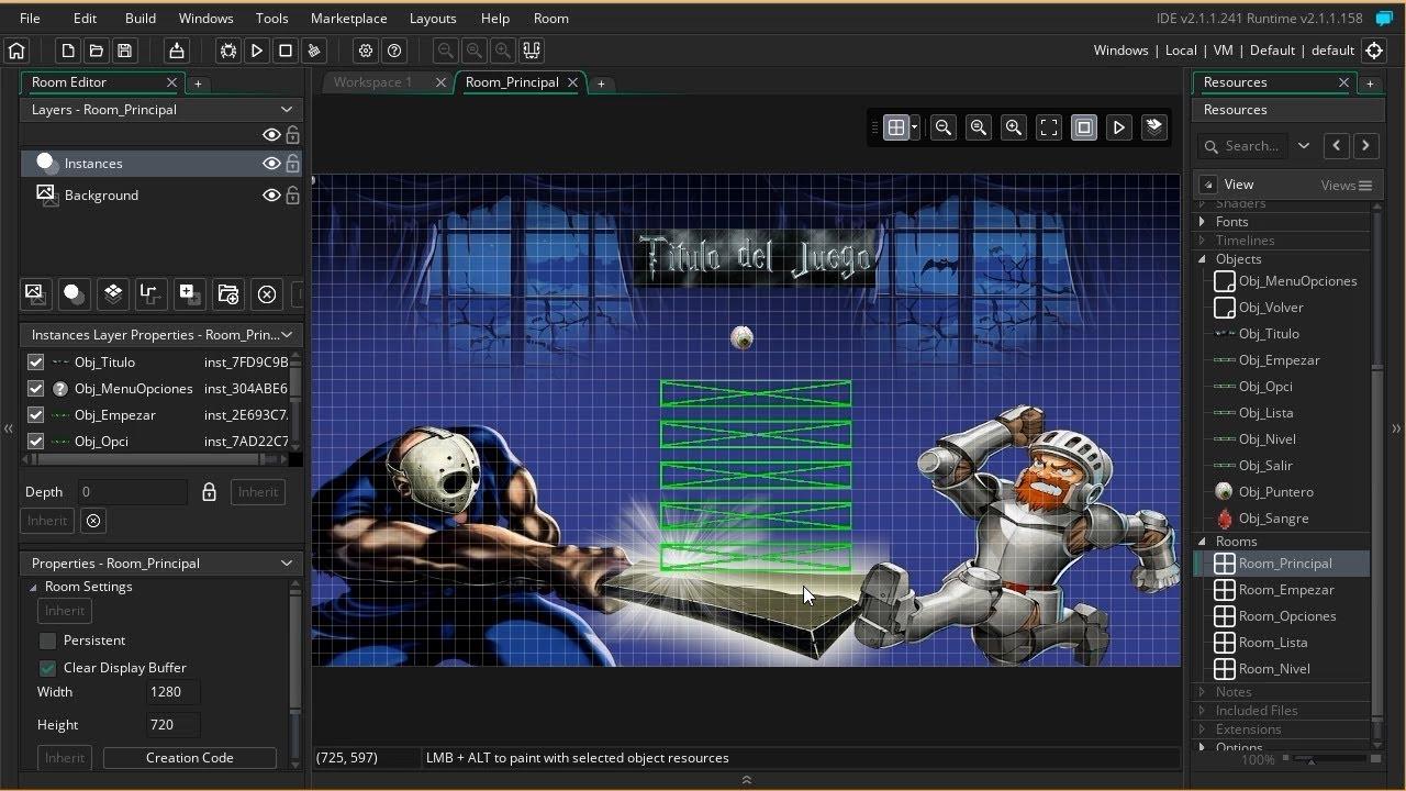 Aprende a CREAR un MENÚ PRINCIPAL con el Game Maker Studio 2 para tus Juegos