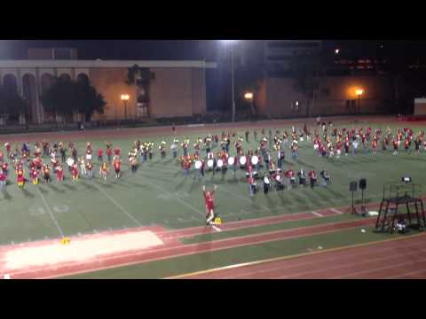 USC Trojans Marching band Rehearsals before Homecoming Game Friday 11/9/12