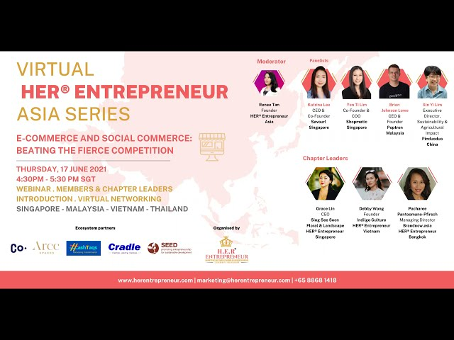 E-commerce vs Social Commerce: Strategies to build trust   HER® Entrepreneur Asia Series June 2021