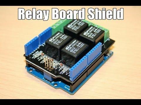 Relay shield Board Arduino Test. Wentook