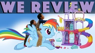 Chris And Maddy Jump On Randbow Dash And Visit Rainbow Kingdom Play Set! - Toy Review
