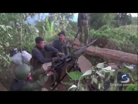 Myanmar jets used against Kachin rebels (raw footage)