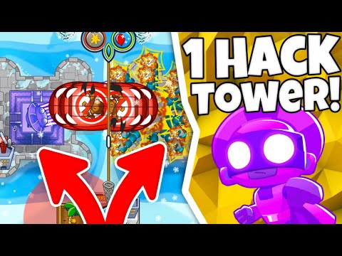 1 HACKED Tower Challenge In Bloons TD Battles With JeromeASF!